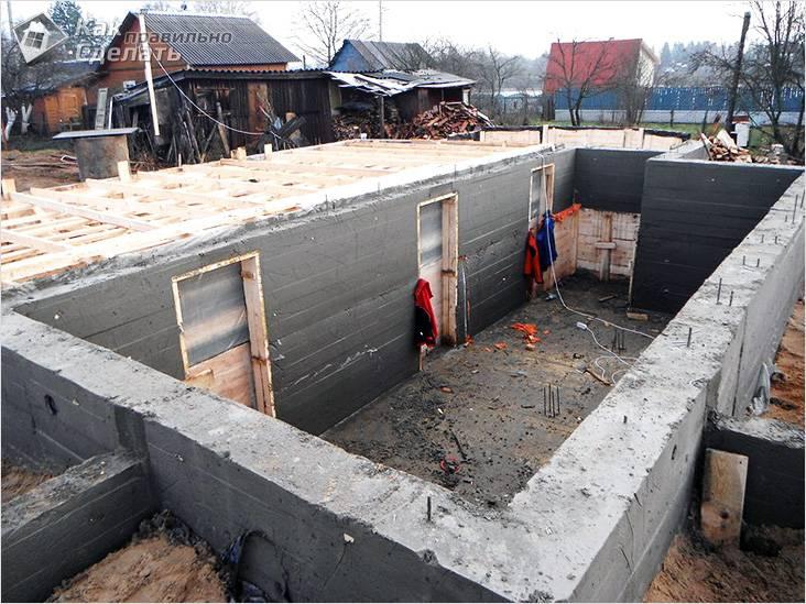 Строим цокольный этаж своими руками 72