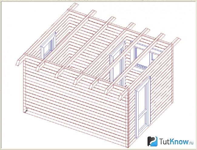 Крыша бани 3х4 своими руками 524