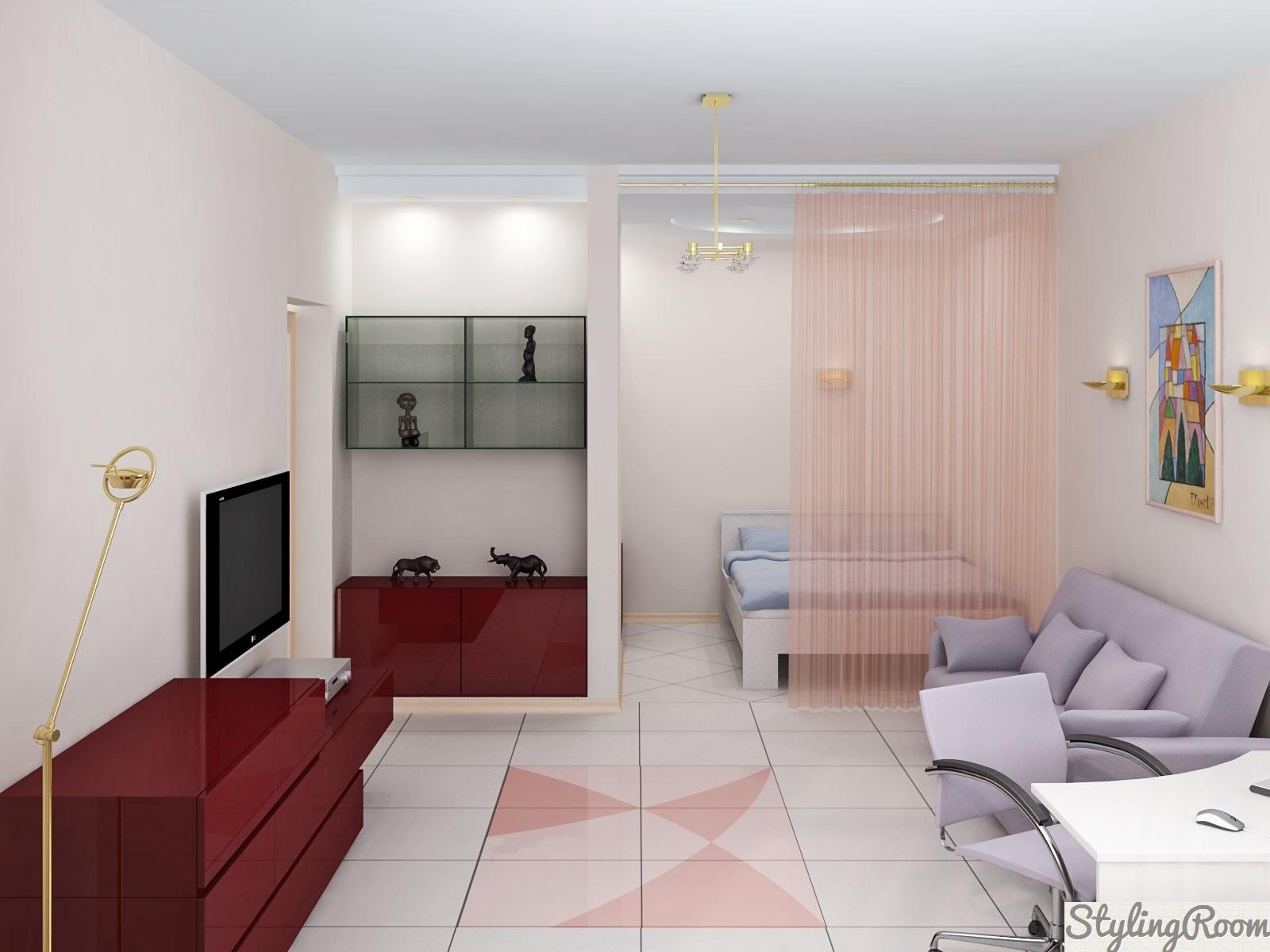 Tek odalı dairenin yeniden geliştirilmesi. Seçenekler ve uygulamaları